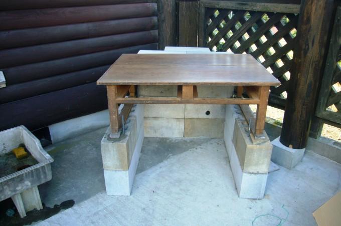 土台 レトロな座卓