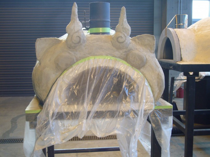 自作 石窯 DIY モルタル